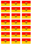 Burgenland Flag Stickers - 21 per sheet